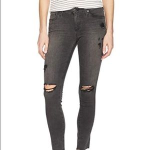 AG   Black torn extremely skinny absolute legging
